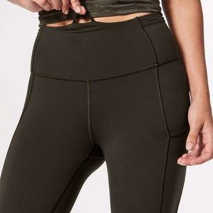 """lululemon athletica Pants - Lululemon Fast & Free Crop II Nulux 19"""" Dark Olive"""